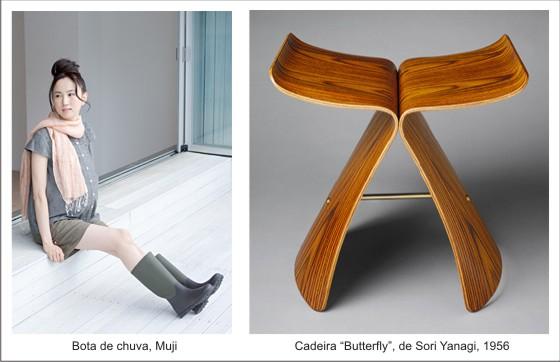 Bota de chuva Muji - Cadeira Butterfly de Sori Yanagi