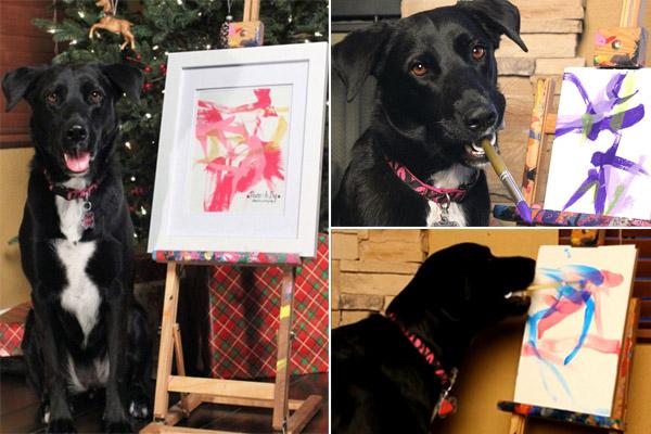 dog-preto-pintor