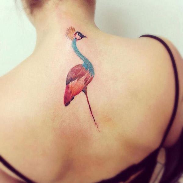 cassio-magne-tatuagem-garça-colorida