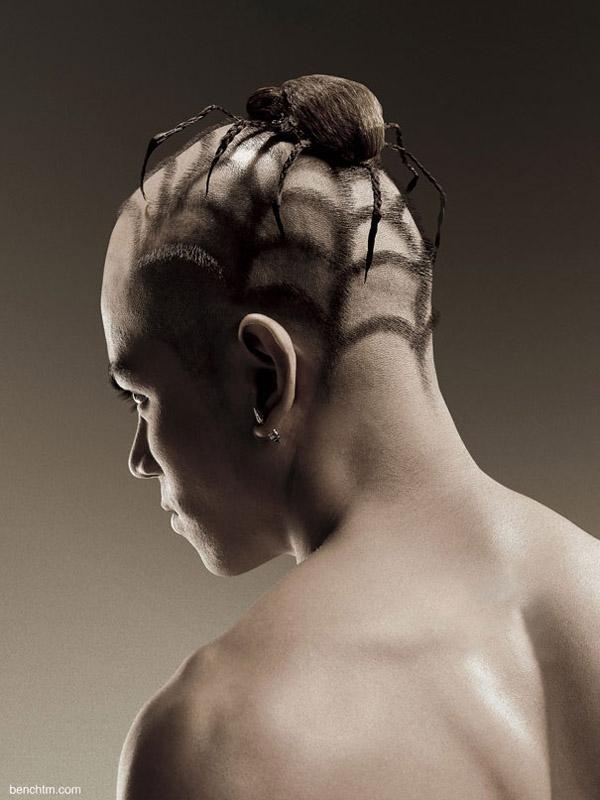 natureza-na-cabeca-corte-de-cabelo-em-forma-de-animais-aranha-blog-usenatureza