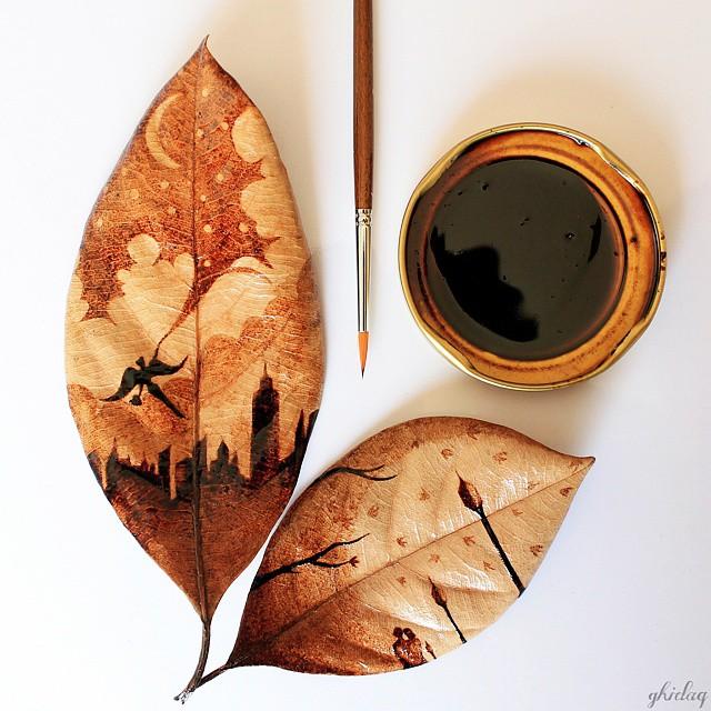 arte-com-o-cafe-de-ontem-folhas-blog-usenatureza