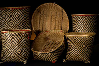 Arte indigena da coleção da Fundação Memorial da América La