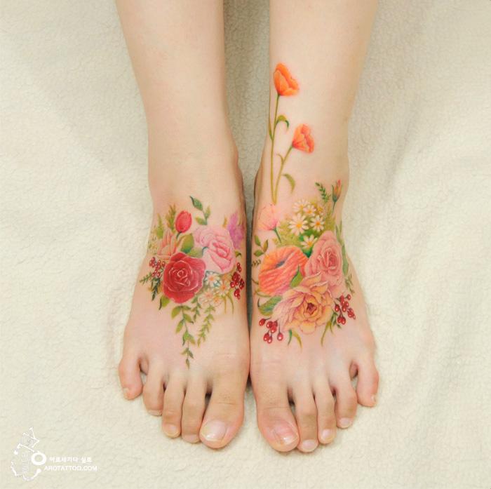 tatuagens-florais-parecem-pinturas-em-aquarela-coreana-blog-usenatureza