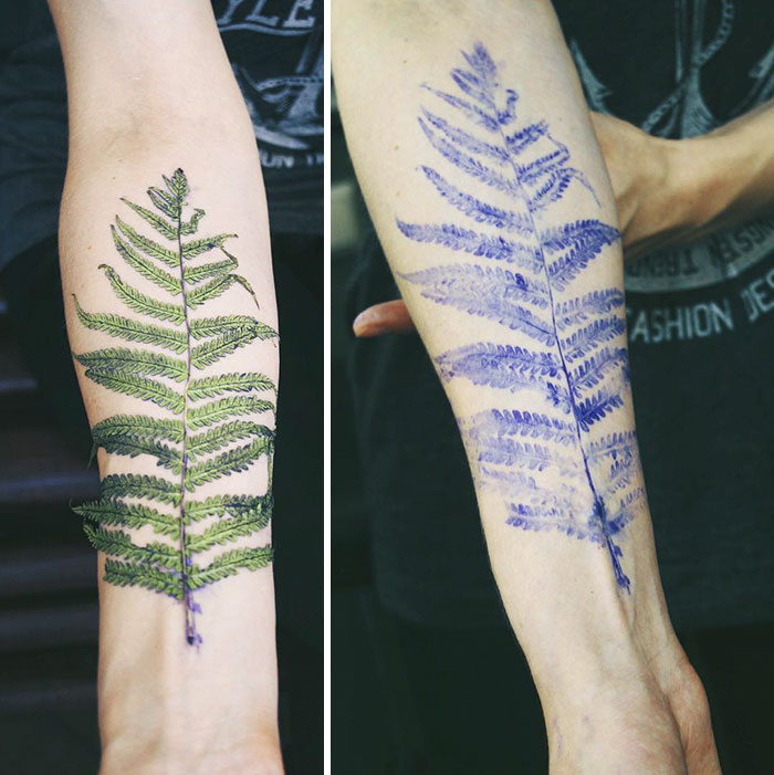 artista-usa-folhas-de-plantas-para-fazer-tatuagem-blog-usenatureza