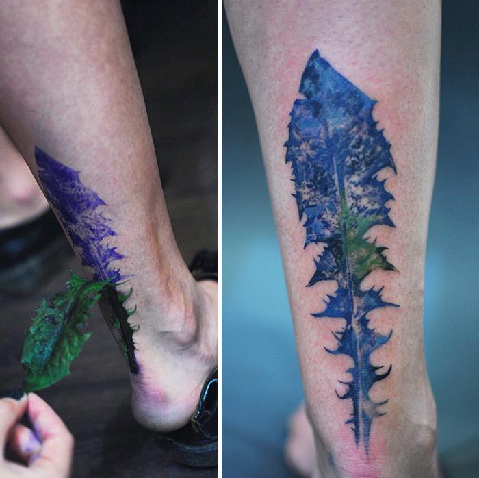 artista-usa-folhas-de-plantas-para-fazer-tatuagem-rit-kit-blog-usenatureza
