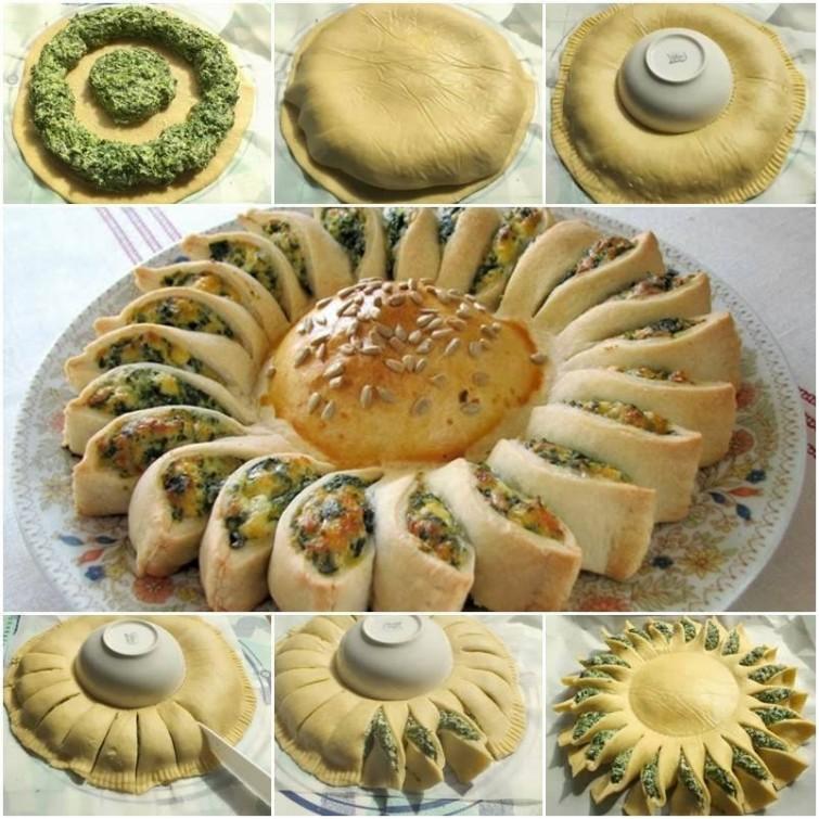 torta-de-queijo-e-espinafre-em-forma-de-girassol-saudavel-blog-usenatureza